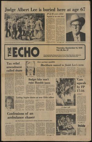 Primary view of object titled 'The Echo (Humble, Tex.), Vol. 39, No. 37, Ed. 1 Thursday, September 14, 1978'.
