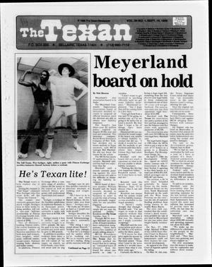 The Texan (Bellaire, Tex.), Vol. 34, No. 1, Ed. 1 Wednesday, September 10, 1986