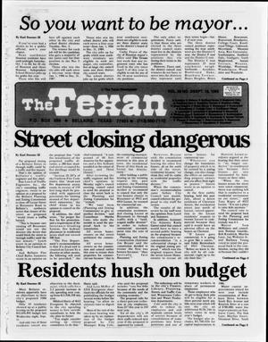 The Texan (Bellaire, Tex.), Vol. 32, No. 03, Ed. 1 Wednesday, September 18, 1985