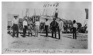 Primary view of object titled 'Farmers at Tivoli [in] Refugio County'.