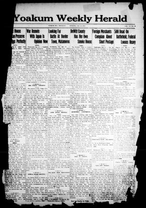 Primary view of object titled 'Yoakum Weekly Herald (Yoakum, Tex.), Vol. 17, No. 36, Ed. 1 Thursday, May 15, 1913'.