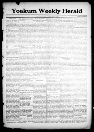 Primary view of object titled 'Yoakum Weekly Herald (Yoakum, Tex.), Vol. 18, No. 10, Ed. 1 Thursday, January 22, 1914'.
