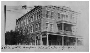 Primary view of object titled 'State Hotel, Corpus Christi, Texas'.