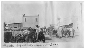 Primary view of object titled 'Trade day  [at] Olney, Texas'.