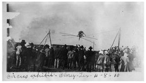 Primary view of object titled 'Circus exhibit, Olney, Texas'.