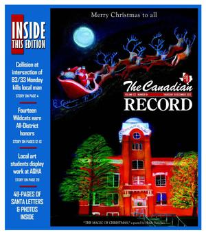 Primary view of object titled 'The Canadian Record (Canadian, Tex.), Vol. 123, No. 51, Ed. 1 Thursday, December 19, 2013'.