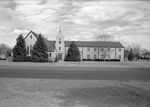 Primary view of object titled '[Exterior of the First Presbyterian Church]'.