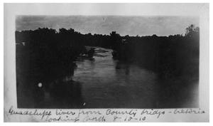 Guadalupe River from county bridge, Victoria, looking north