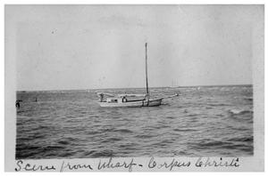 Primary view of object titled 'Scene from wharf, Corpus Christi'.