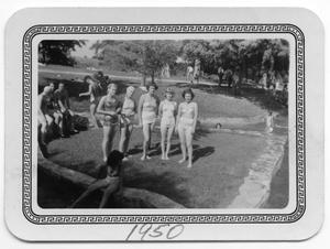Primary view of object titled '[Four Women in Swim Suits]'.