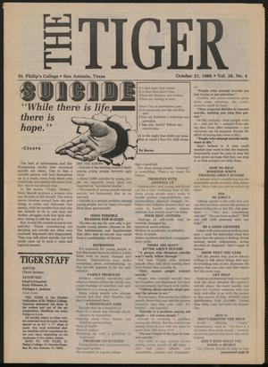 Primary view of object titled 'The Tiger (San Antonio, Tex.), Vol. 28, No. 4, Ed. 1 Friday, October 21, 1988'.