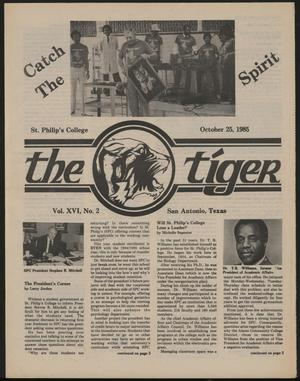 Primary view of object titled 'The Tiger (San Antonio, Tex.), Vol. 16, No. 2, Ed. 1 Friday, October 25, 1985'.