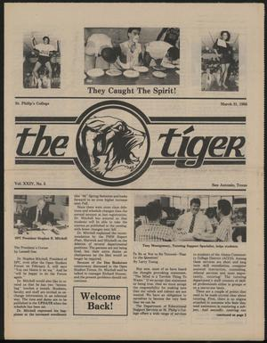 Primary view of object titled 'The Tiger (San Antonio, Tex.), Vol. 24, No. 5, Ed. 1 Monday, March 31, 1986'.