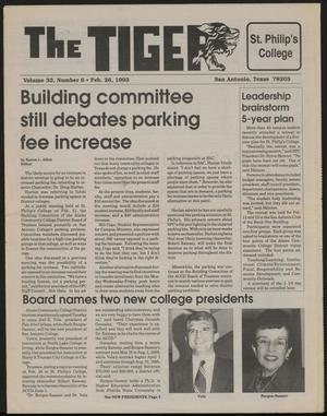 The Tiger (San Antonio, Tex.), Vol. 33, No. 6, Ed. 1 Friday, February 26, 1993