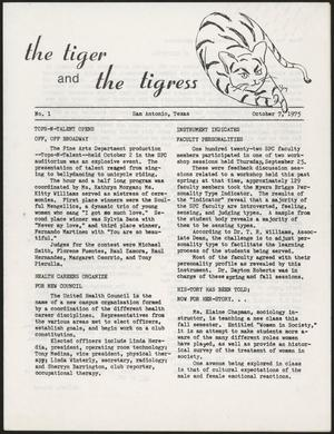 The Tiger and The Tigress (San Antonio, Tex.), No. 1, Ed. 1 Tuesday, October 7, 1975