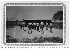 Primary view of object titled '[Playing Volleyball]'.