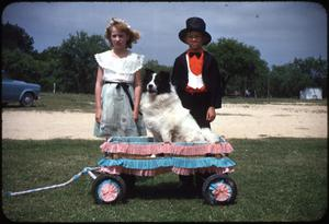 Primary view of object titled '[Two Students With Dog]'.