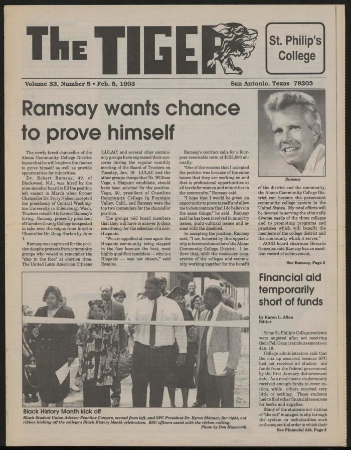 The Tiger (San Antonio, Tex ), Vol  33, No  5, Ed  1 Friday