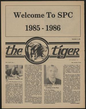 Primary view of object titled 'The Tiger (San Antonio, Tex.), Vol. 24, No. 1, Ed. 1 Friday, September 27, 1985'.