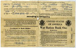 Primary view of object titled '[War Ration Book]'.