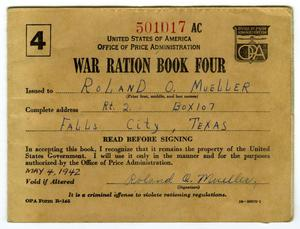 Primary view of object titled '[War Ration Book Four]'.