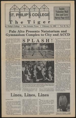 Primary view of object titled 'The Tiger (San Antonio, Tex.), Vol. 32, No. 5, Ed. 1 Friday, February 14, 1992'.