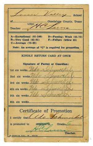Primary view of object titled '[Report Card]'.
