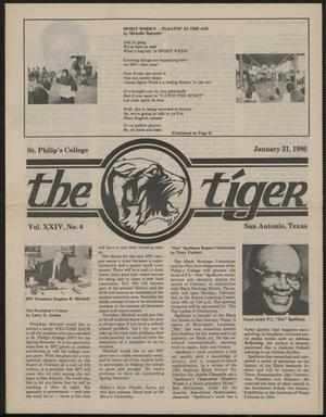 Primary view of object titled 'The Tiger (San Antonio, Tex.), Vol. 24, No. 4, Ed. 1 Friday, January 31, 1986'.