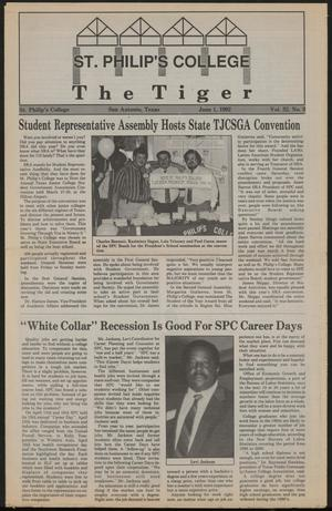 Primary view of object titled 'The Tiger (San Antonio, Tex.), Vol. 32, No. 9, Ed. 1 Monday, June 1, 1992'.