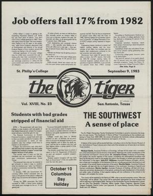 Primary view of object titled 'The Tiger (San Antonio, Tex.), Vol. 18, No. 23, Ed. 1 Friday, September 9, 1983'.