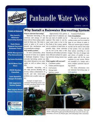 Primary view of object titled 'Panhandle Water News, April 2015'.