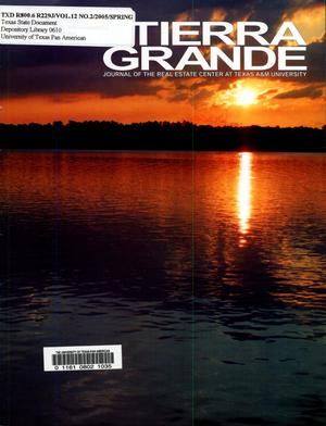 Primary view of object titled 'Tierra Grande, Volume 12, Number 2, April 2005'.