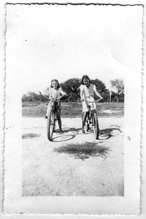 Primary view of object titled '[Two Girls on Bicycles]'.