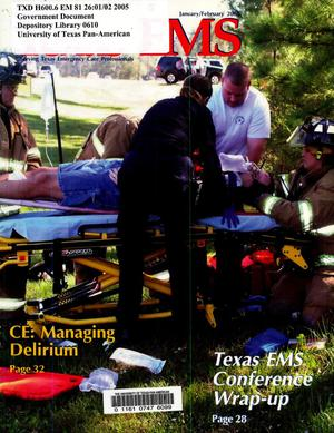 Primary view of object titled 'Texas EMS Magazine, Volume 26 Number 1, January/February 2005'.