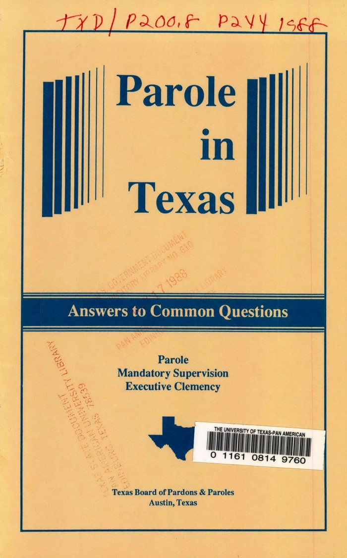 Parole in Texas: Answers to Common Questions - The Portal to