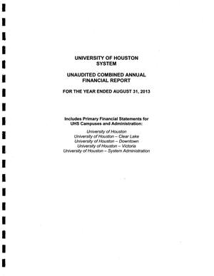 Primary view of object titled 'University of Houston System Annual Financial Report: 2013'.