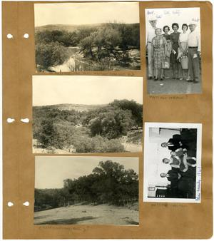 Primary view of object titled '[Three Views of a River on Matthews Ranch; Watt Matthews with Family and Friends; Watt Casey's Family]'.