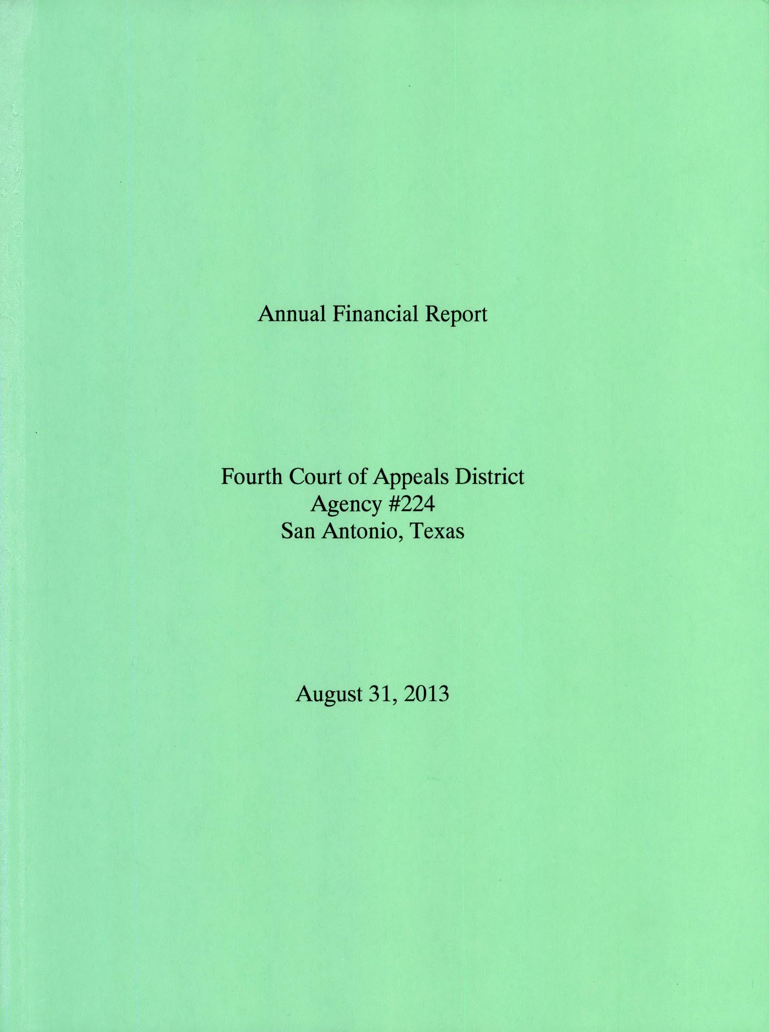 Texas Fourth District Court E Schlagzeug Us Of Appeals And Mapsvg Annual Financial Report 2013 The Portal To History