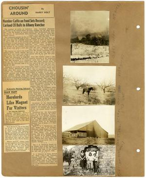 Primary view of object titled '[Newspaper Clippings and Photographs Regarding the Matthews Ranch]'.