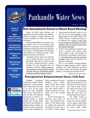 Primary view of object titled 'Panhandle Water News, April 2014'.