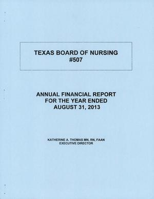 Primary view of object titled 'Texas Board of Nursing Annual Financial Report: 2013'.