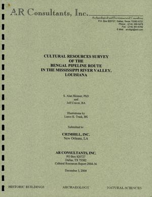 Primary view of object titled 'Cultural Resources Survey of the Bengal Pipeline Route in the Mississippi River Valley, Louisiana'.