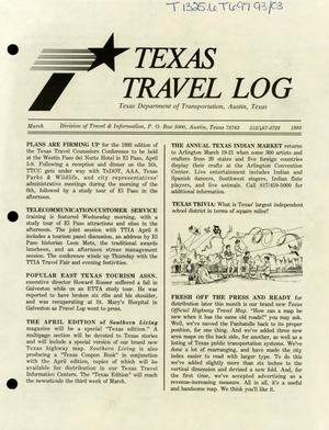 Primary view of object titled 'Texas Travelog, March 1993'.