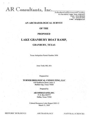 Primary view of object titled 'An Archaeological Survey of the Proposed Lake Granbury Boat Ramp, Granbury, Texas'.