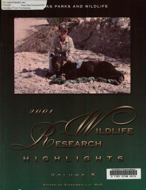 Primary view of object titled 'Wildlife Research Highlights, Volume 5, 2001'.