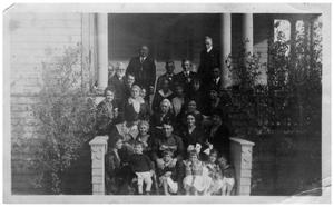 Primary view of object titled '[People on Steps of a Porch]'.