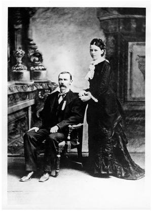 Primary view of object titled '[Portrait of John and Sallie Matthews]'.