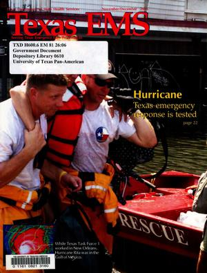 Primary view of object titled 'Texas EMS Magazine, Volume 26, Number 6, November/December 2005'.