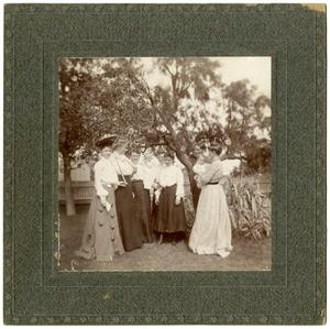 Primary view of object titled '[Six Women, One Man, and Two Babies under a Tree]'.