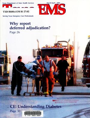 Primary view of object titled 'Texas EMS Magazine, Volume 27, Number 2, March/April 2006'.